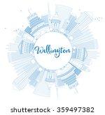 outline wellington skyline with ... | Shutterstock . vector #359497382