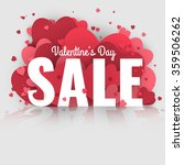 valentine's day sale. letters... | Shutterstock .eps vector #359506262