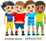 group of happy multicultural... | Shutterstock .eps vector #359525735