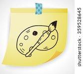 doodle palette brush | Shutterstock .eps vector #359528645