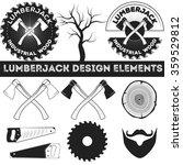 Vintage Lumberjack Label ...