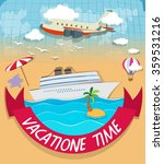 logo design with vacation theme ... | Shutterstock .eps vector #359531216