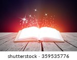 abstract colorful magic book on ... | Shutterstock . vector #359535776