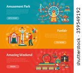 funfair horizontal banner set... | Shutterstock .eps vector #359549192
