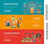 funfair horizontal banner set... | Shutterstock .eps vector #359549192