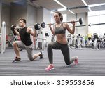 young man and woman training... | Shutterstock . vector #359553656
