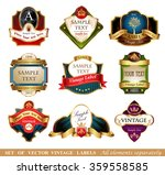 vector labels and frames. | Shutterstock .eps vector #359558585