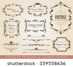different vintage frames | Shutterstock .eps vector #359558636