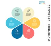 infographics with colored... | Shutterstock .eps vector #359563112