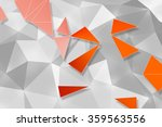 orange polygon pattern and... | Shutterstock . vector #359563556