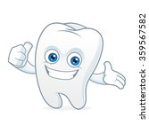 tooth cartoon mascot clean and... | Shutterstock .eps vector #359567582