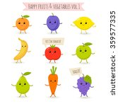 vector set of flat cartoon... | Shutterstock .eps vector #359577335
