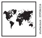 world map illustration | Shutterstock .eps vector #359586116