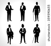 set of male silhouettes... | Shutterstock .eps vector #359590655