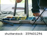 guitar effect on stage. | Shutterstock . vector #359601296