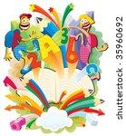 back to school.  vector... | Shutterstock .eps vector #35960692