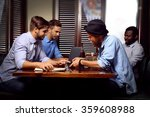 young men talking in cafe | Shutterstock . vector #359608988