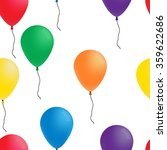 Seamless Pattern  Color Balloons