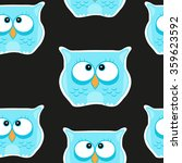 funny seamless pattern with... | Shutterstock .eps vector #359623592
