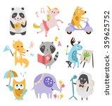 cute childish animals vector... | Shutterstock .eps vector #359625752