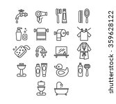hygienic and bathroom icons set.... | Shutterstock .eps vector #359628122
