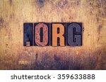 "the word ""dot org"" written in... | Shutterstock . vector #359633888"