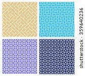 set of seamless brick pattern... | Shutterstock .eps vector #359640236