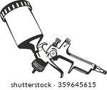 paint spray gun | Shutterstock .eps vector #359645615