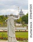 medieval statue overlooks the... | Shutterstock . vector #359649305