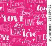 love. pink romantic seamless... | Shutterstock .eps vector #359654432