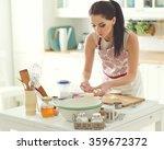 woman baking at home | Shutterstock . vector #359672372