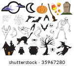 vector   halloween collection.... | Shutterstock .eps vector #35967280