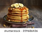 Pancakes With Banana Walnut An...
