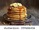 Pancakes With Banana Walnut An...