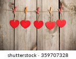 red heart hanging on the... | Shutterstock . vector #359707328