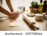 woman cooking in the kitchen... | Shutterstock . vector #359708066