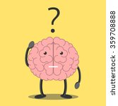 confused brain character... | Shutterstock .eps vector #359708888