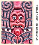 historic maori carving  new... | Shutterstock . vector #359719868