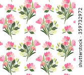 seamless pattern with a bouquet ... | Shutterstock .eps vector #359732972