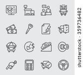 car dealerships line icon | Shutterstock .eps vector #359736482