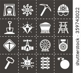 vector mining icon set | Shutterstock .eps vector #359743022