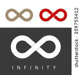 infinity symbols set in three... | Shutterstock .eps vector #359755412