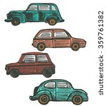 colored set of retro cars....   Shutterstock .eps vector #359761382