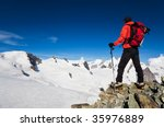 Male Hiker Standing In Front O...