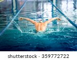 male swimmer performing the... | Shutterstock . vector #359772722