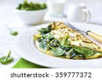 Omelette Stuffed With Spinach...