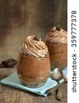 chocolate mousse in a glasses... | Shutterstock . vector #359777378