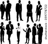 business people silhouettes  ... | Shutterstock .eps vector #359778722