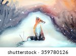 red fox in winter | Shutterstock . vector #359780126