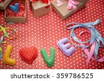 love  valentines day. word love ... | Shutterstock . vector #359786525